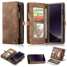 Load image into Gallery viewer, CASEME Samsung Galaxy S10e Vintage Portemonnee Hoesje - Brown