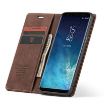 Load image into Gallery viewer, CASEME Samsung Galaxy S8 Retro Wallet Case - Coffee
