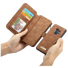 Load image into Gallery viewer, CASEME Samsung Galaxy S9 Retro Portemonnee Hoesje - Brown