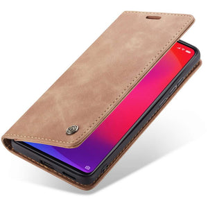 CASEME Xiaomi Redmi K20 Pro Retro Wallet Case - Brown