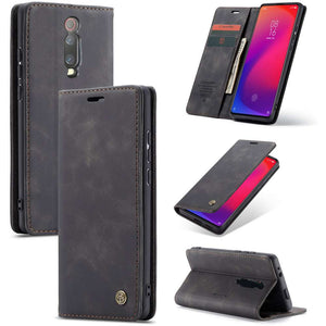 CASEME Xiaomi Redmi K20 Pro Retro Wallet Case - Black