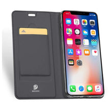 Load image into Gallery viewer, DUX DUCIS Apple iPhone Xs Max Wallet Case Slimline - Grey