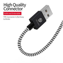 Load image into Gallery viewer, Dux Ducis Woven Lightning USB 25cm - Black