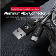 Load image into Gallery viewer, Dux Ducis Woven USB-C Male to USB Female kabel - 100cm - Black