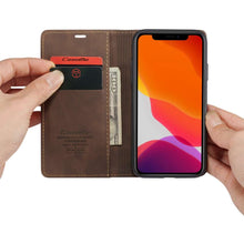 Load image into Gallery viewer, CASEME Apple iPhone 11 Retro Wallet Case - Coffee