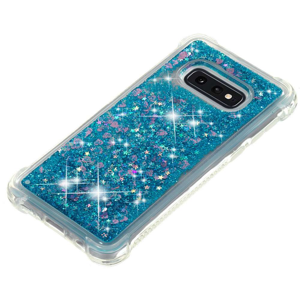 Just in Case Samsung Galaxy S10e Glitter Soft TPU case (Blue)
