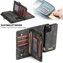 Load image into Gallery viewer, CASEME Apple iPhone 11 Pro Vintage Wallet - Black