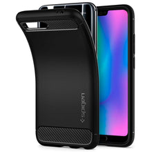 Load image into Gallery viewer, Spigen Rugged Armor Case Honor 10 (Black) L27CS24096