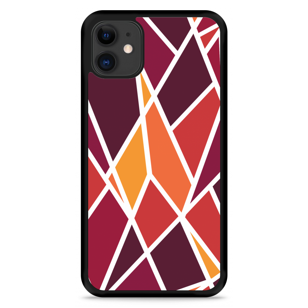 iPhone 11 Hardcase hoesje Colorful Triangles