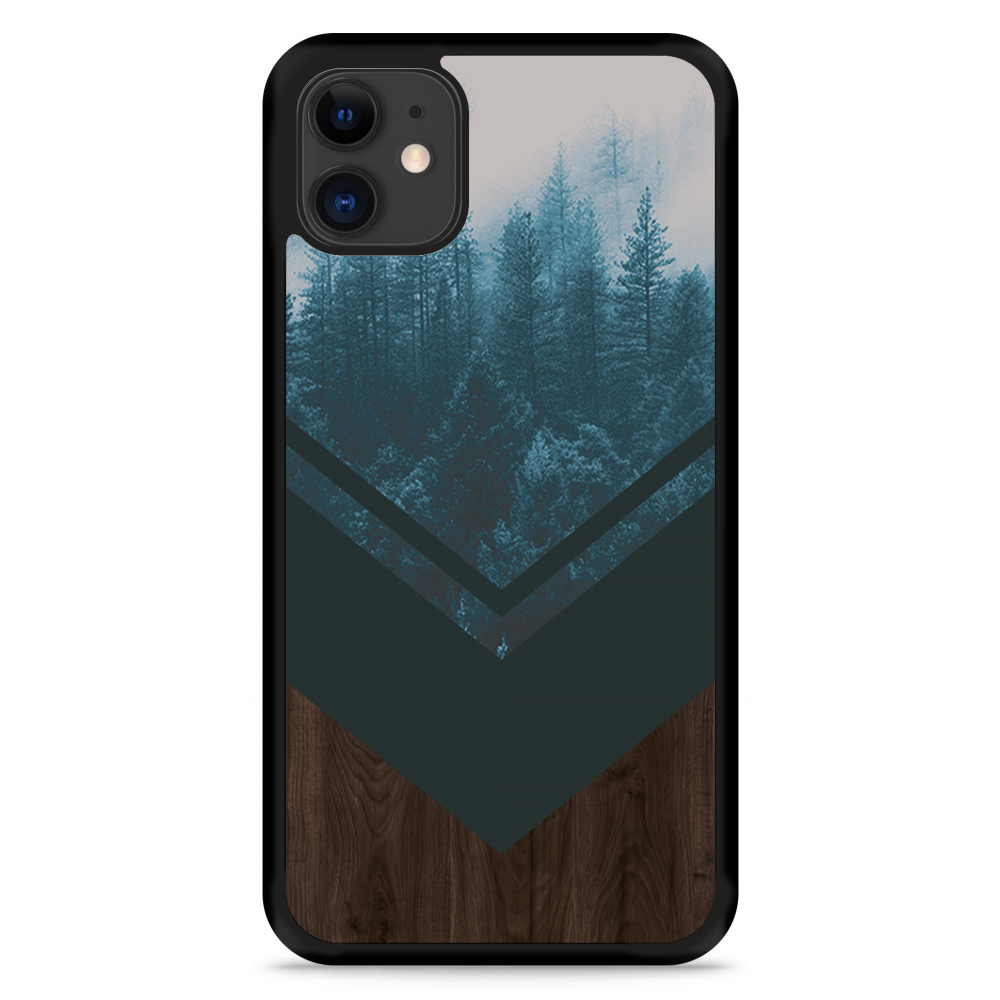 iPhone 11 Hardcase hoesje Forest wood