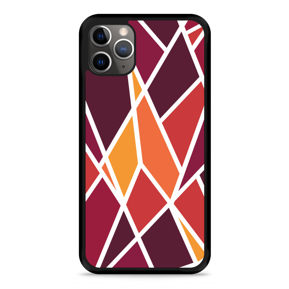 iPhone 11 Pro Hardcase hoesje Colorful Triangles