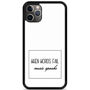 iPhone 11 Pro Max Hardcase hoesje Music Speaks