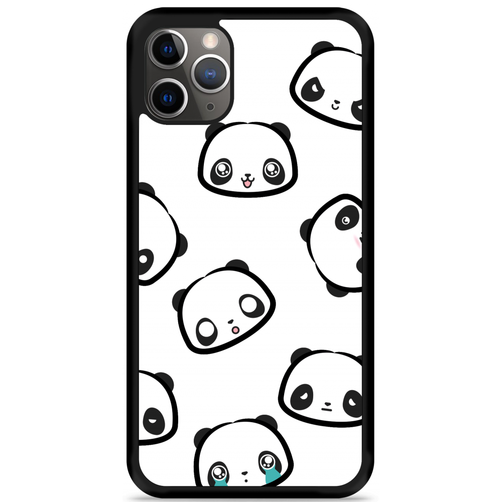 iPhone 11 Pro Max Hardcase hoesje Panda Emotions