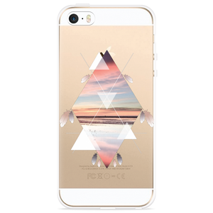 iPhone 5/5S/SE Hoesje Feather Art