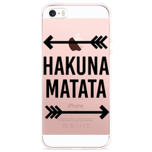 Load image into Gallery viewer, iPhone 5/5S/SE Hoesje Hakuna Matata black
