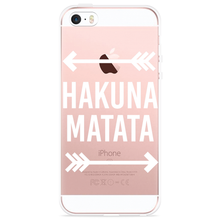 Load image into Gallery viewer, iPhone 5/5S/SE Hoesje Hakuna Matata white