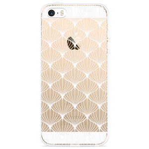iPhone 5/5S/SE Hoesje White Abstract Pattern