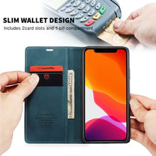 Load image into Gallery viewer, CASEME Apple iPhone 11 Pro Retro Wallet Case - Blue