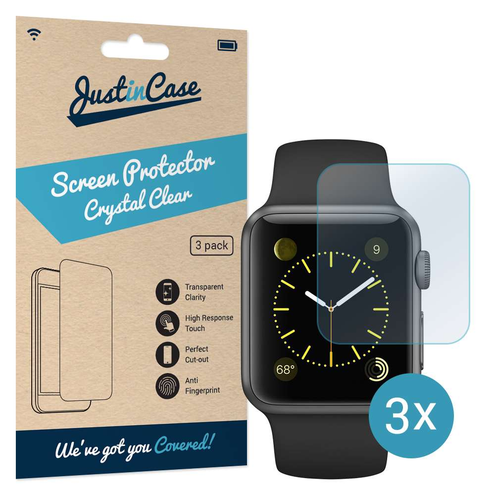 Just in Case Screen Protector Apple Watch 38mm (3 pack)