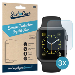 Just in Case Screen Protector Apple Watch 42mm (3 pack)