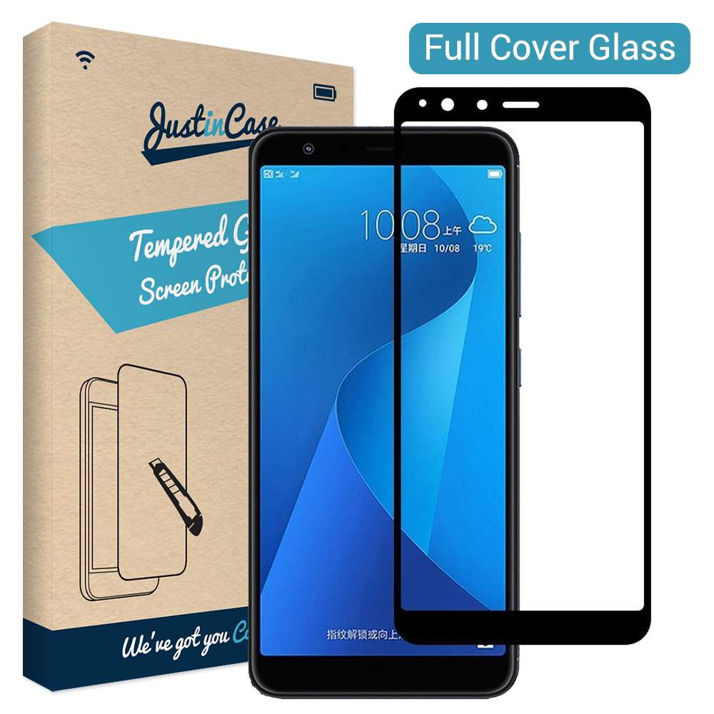 Just in Case Full Cover Tempered Glass Asus ZenFone Max Plus ZB570TL (Black)
