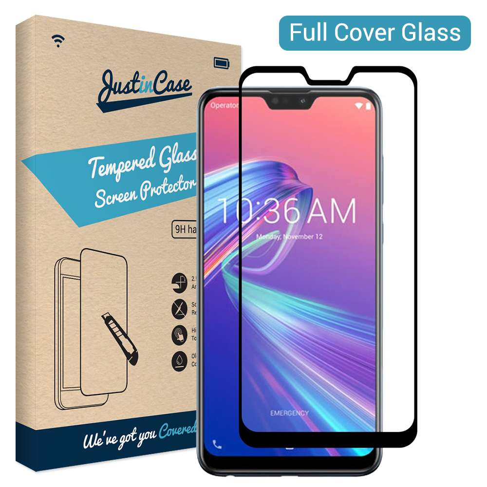 Just in Case Full Cover Tempered Glass Asus Zenfone Max Pro M2 (Black)