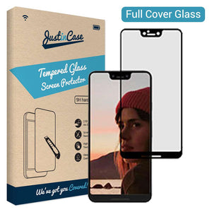 Just in Case Full Cover Tempered Glass Google Pixel 3 XL (Black)
