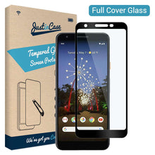 Load image into Gallery viewer, Just in Case Full Cover Tempered Glass Google Pixel 3a XL (Black)
