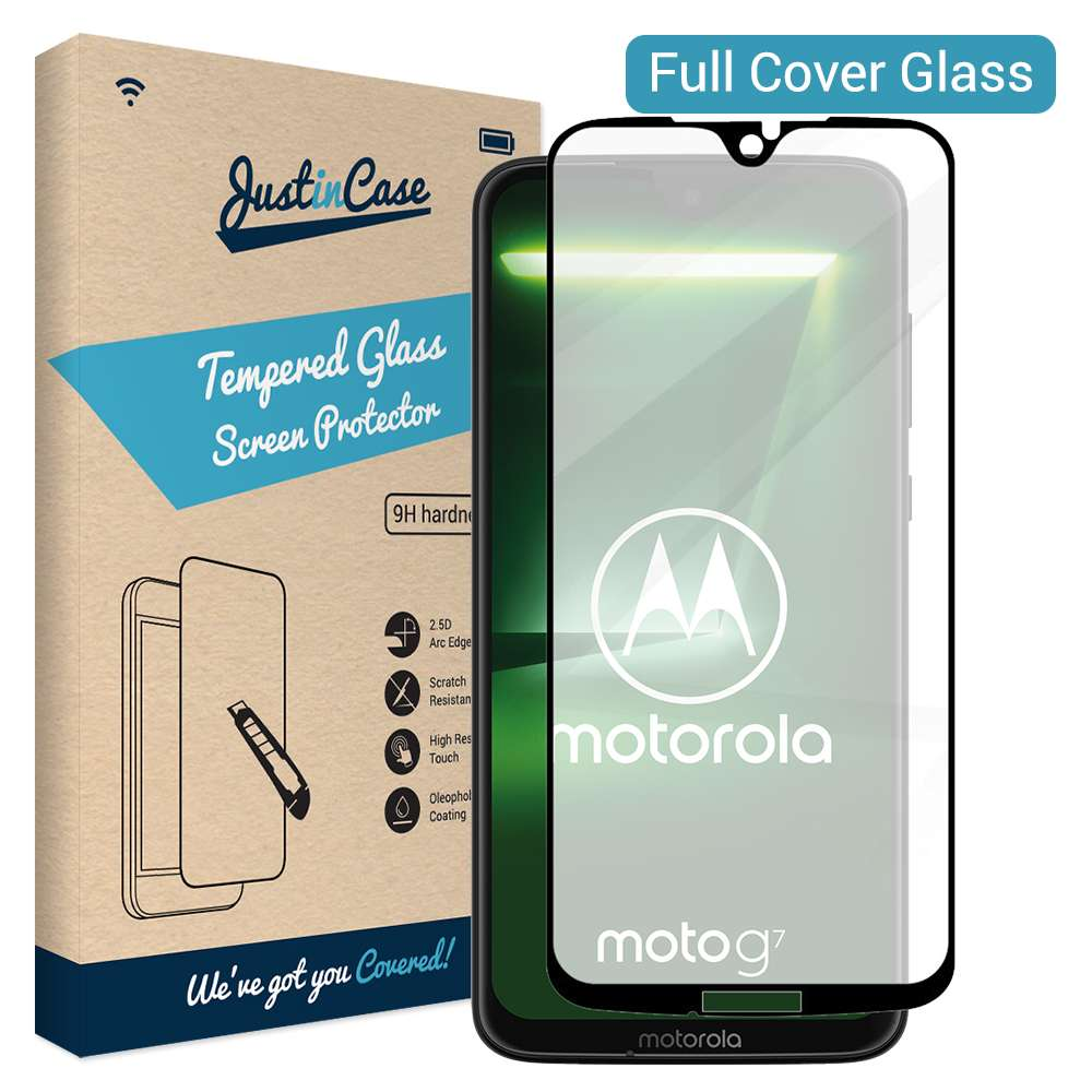 Just in Case Full Cover Tempered Glass Motorola Moto G7/G7 Plus (Black)