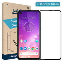 Load image into Gallery viewer, Just in Case Full Cover Tempered Glass Motorola One Vision (Black)