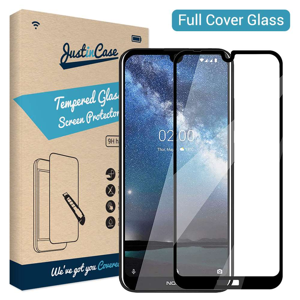 Just in Case Full Cover Tempered Glass Nokia 2.2 (Black)