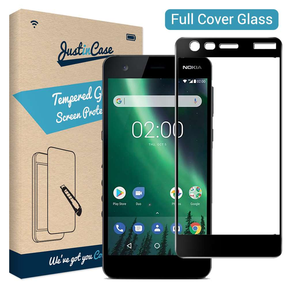 Just in Case Full Cover Tempered Glass Nokia 2 (Black)