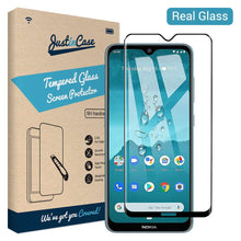 Load image into Gallery viewer, Just in Case Full Cover Tempered Glass Nokia 6.2 / 7.2 (Black)
