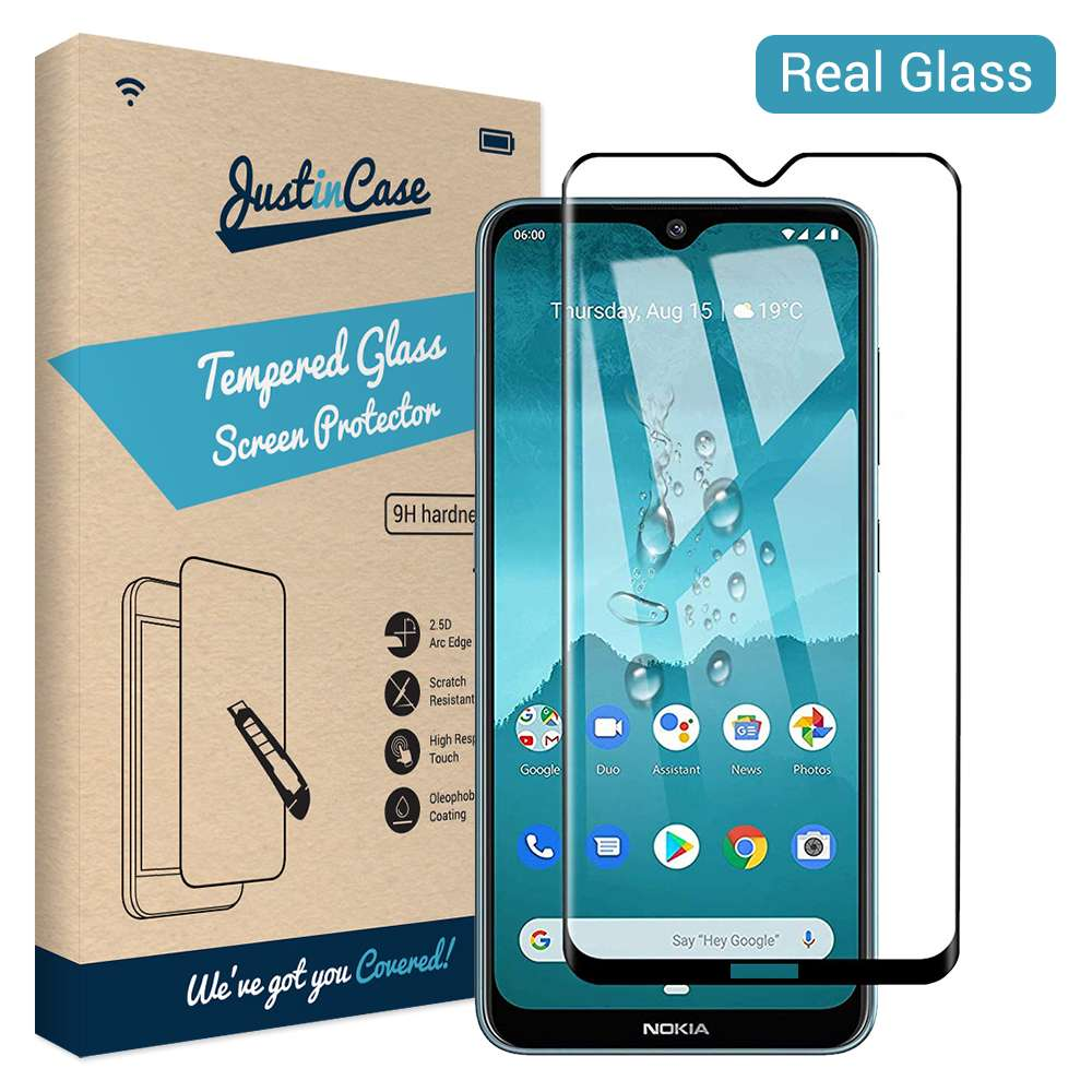 Just in Case Full Cover Tempered Glass Nokia 6.2 / 7.2 (Black)