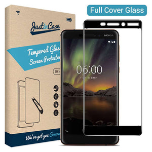Just in Case Full Cover Tempered Glass Nokia 6 (2018) (Black)