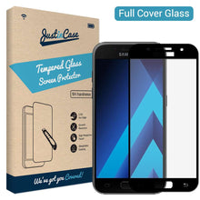 Load image into Gallery viewer, Just in Case Full Cover Tempered Glass Samsung Galaxy A3 (2017) (Black)