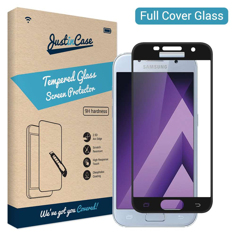 Just in Case Full Cover Tempered Glass Samsung Galaxy A5 (2017) (Black)