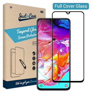 Just in Case Full Cover Tempered Glass Samsung Galaxy A70 (Black)