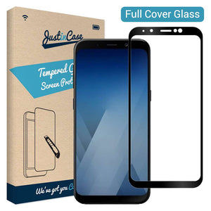 Just in Case Full Cover Tempered Glass Samsung Galaxy A8 (2018) (Black)