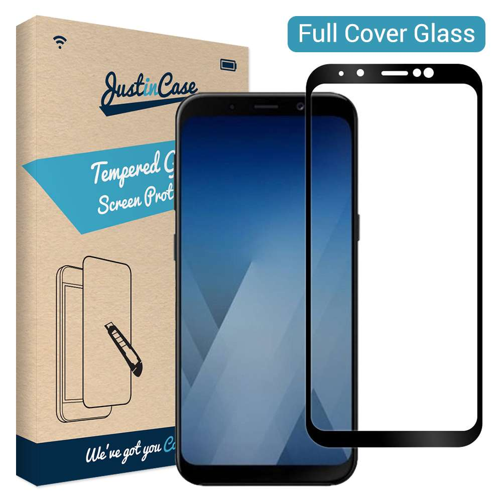 Just in Case Full Cover Tempered Glass Samsung Galaxy A8 Plus (2018) (Black)