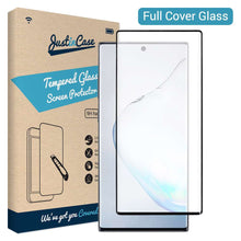 Load image into Gallery viewer, Just in Case Full Cover Tempered Glass Samsung Galaxy Note 10 (Black)