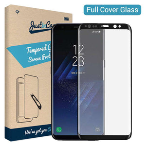 Just in Case Full Cover Tempered Glass Samsung Galaxy S8 (Black)