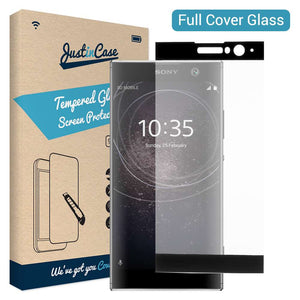 Just in Case Full Cover Tempered Glass Sony Xperia XA2 (Black)