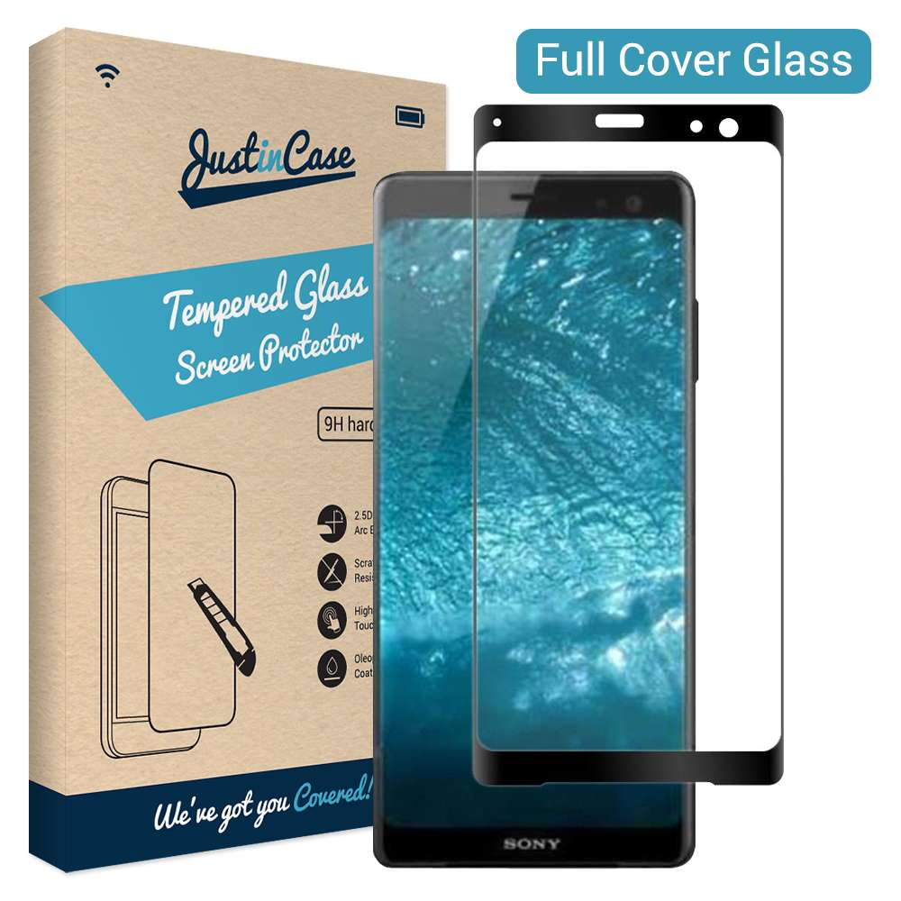 Just in Case Full Cover Tempered Glass Sony Xperia XZ3 (Black)
