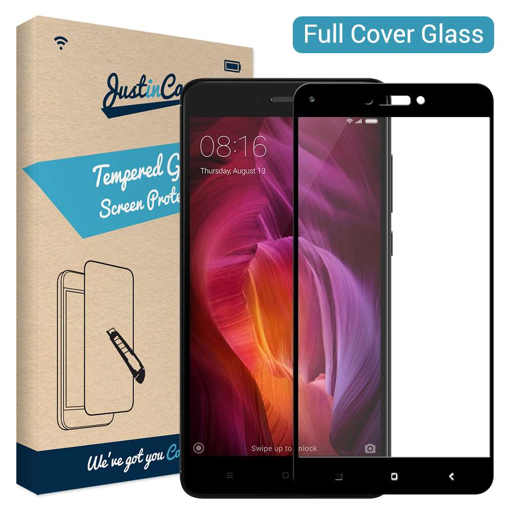 Just in Case Full Cover Tempered Glass Xiaomi Redmi Note 4 (Black)