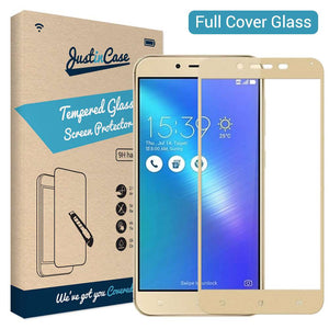 Just in Case Full Cover Tempered Glass Zenfone 3 Max (5.5 inch) ZC553KL (Gold)