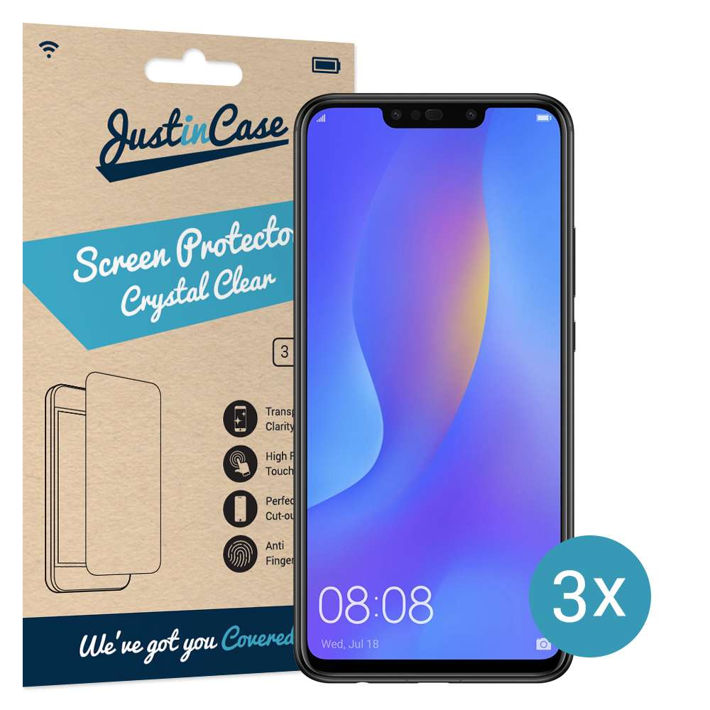 Just in Case Screen Protector Huawei P Smart Plus (3 pack)