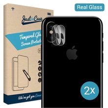 Load image into Gallery viewer, Just in Case Tempered Glass Apple iPhone X / XS Camera Lens - 2 Pcs