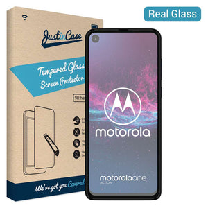 Just in Case Tempered Glass Motorola One Action