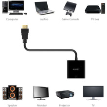 Load image into Gallery viewer, Aukey HDMI to VGA Adapter (24cm)